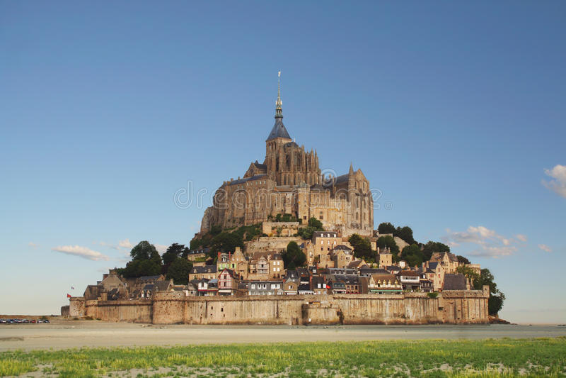 Mont-St-Michel em Normandy, France fotografia de stock