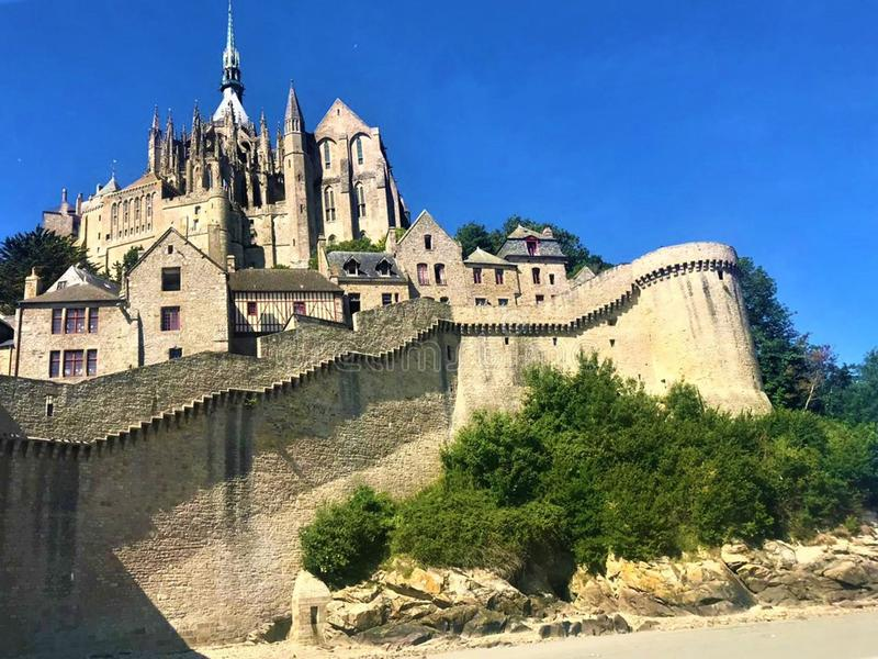 2019-06-22 Mont St Michel - la France photos libres de droits