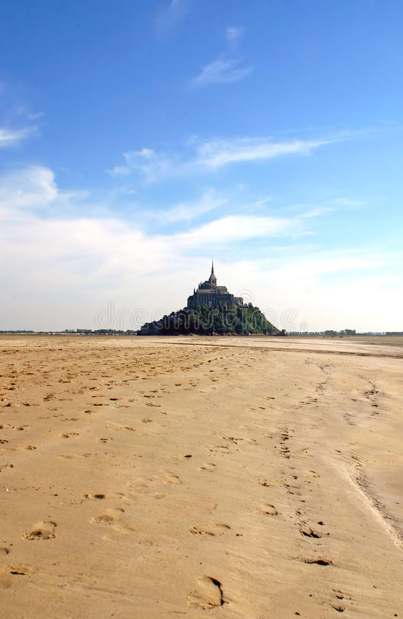 Download Mont St Michel And Low Tide - Normandy - France Stock Image - Image of normandy, michel: 15172799