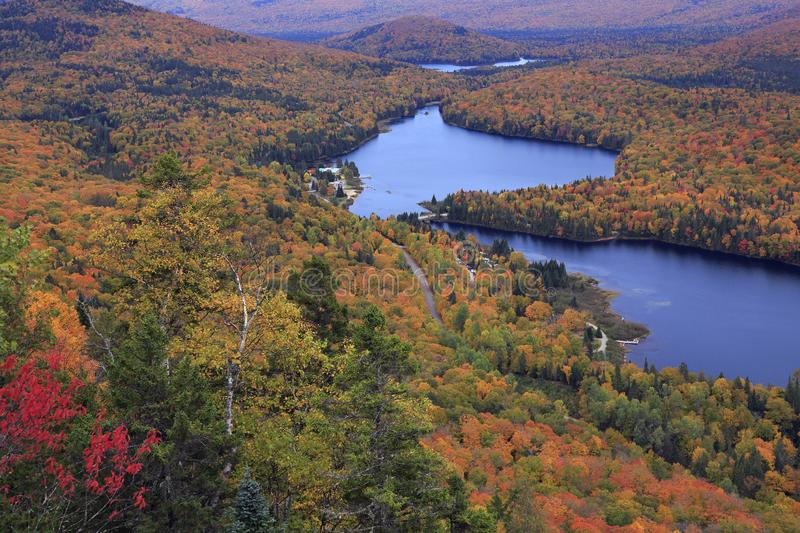 Mont Tremblant National Park with autumn colors stock image