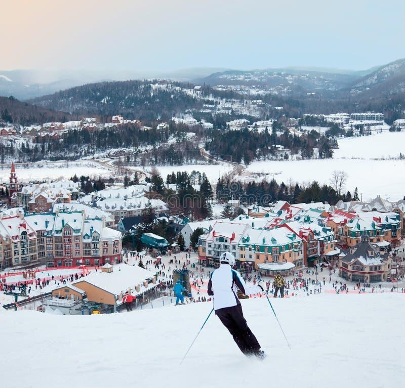 Mont-Tremblant Ski Resort, Quebec, Canada royalty-vrije stock afbeelding