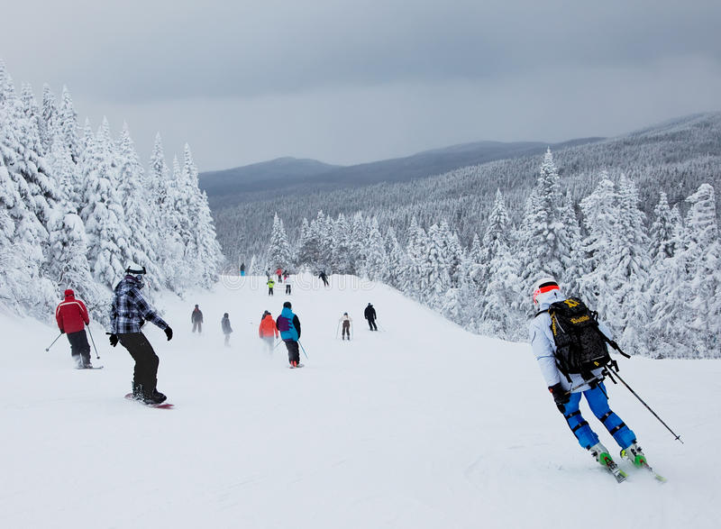 Mont-Tremblant Ski Resort, Quebec, Canada royalty free stock photography