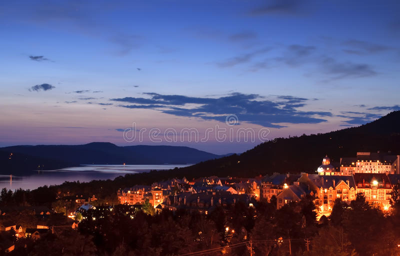 Mont Tremblant village at dusk