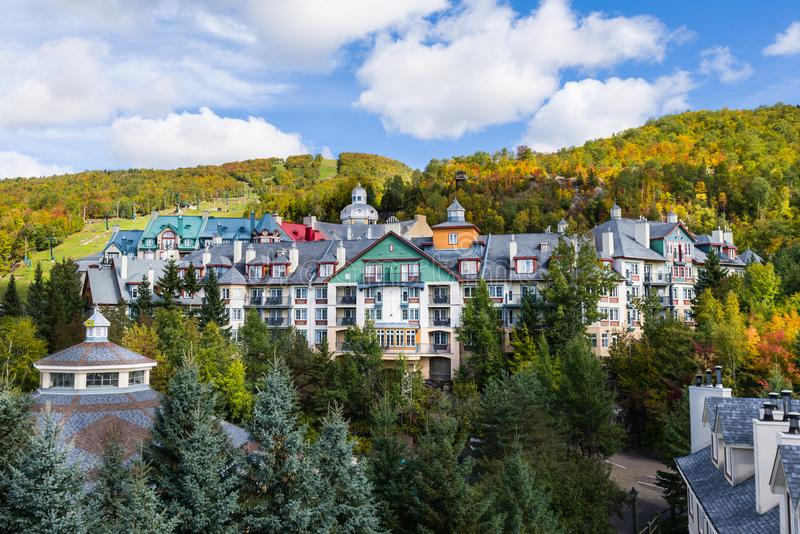 Mont-Tremblant village general view in fall royalty free stock photos