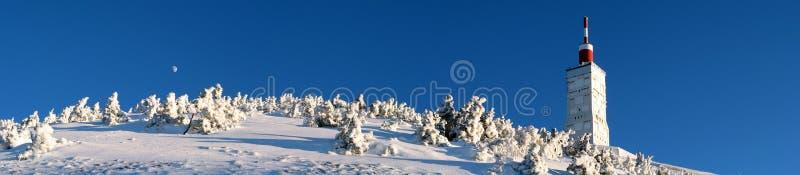 Mont Ventoux en hiver photo stock