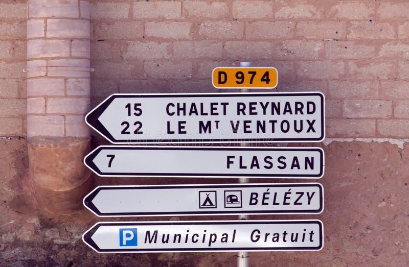 Mont ventoux szaletu reynard drogowy znak obrazy royalty free