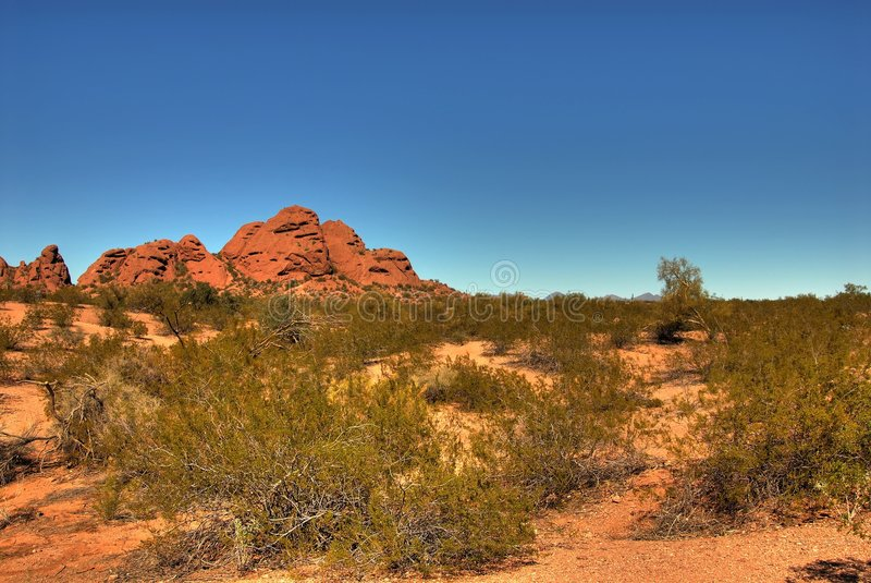Montaña 105 del desierto fotografía de archivo