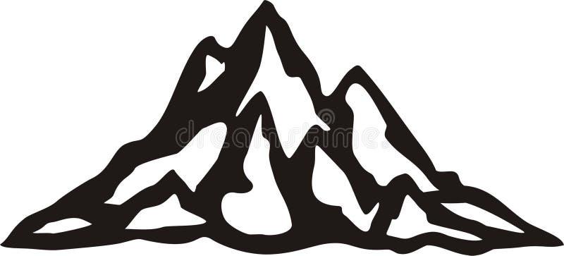 Montaña ilustración del vector
