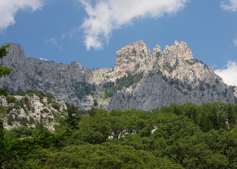 Montaña Ai-Petri de Crimea imagen de archivo