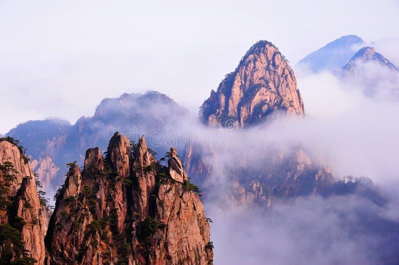 Montaña (amarilla) de Huangshan foto de archivo libre de regalías