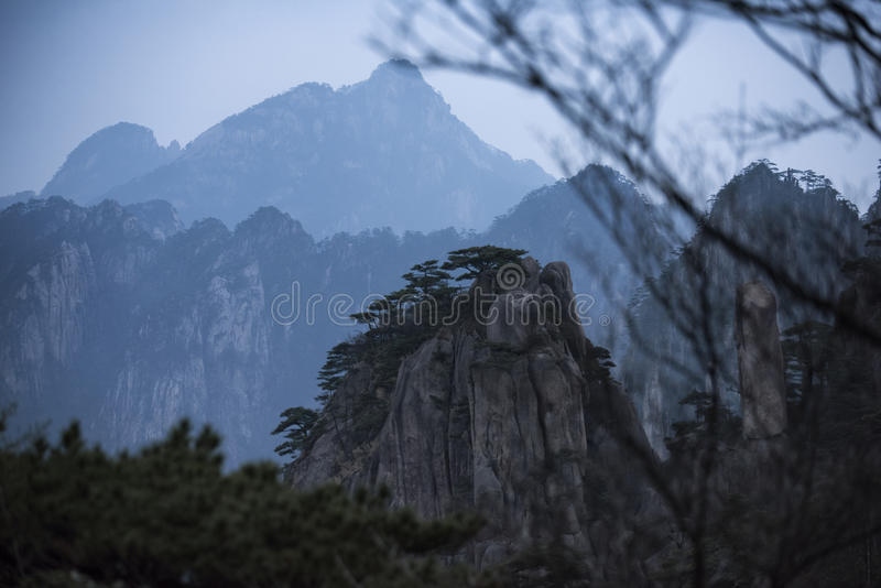 Montaña amarilla Huangshan China foto de archivo