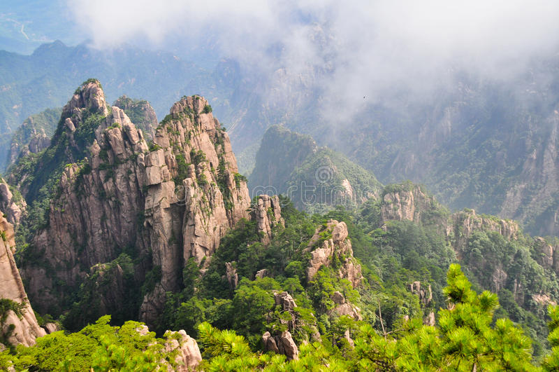 Montaña amarilla (Shan de Huang) imágenes de archivo libres de regalías