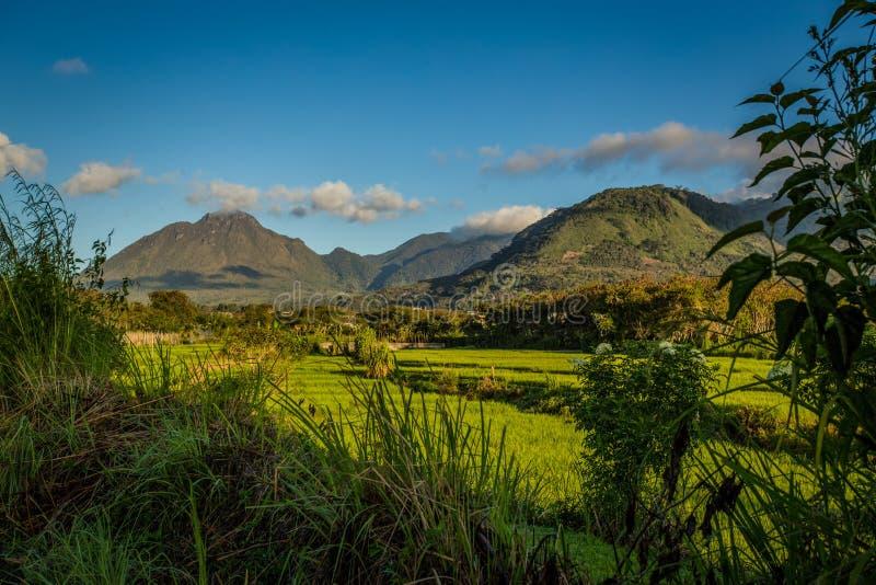 Montaña ardiente del telong del paisaje imagen de archivo libre de regalías