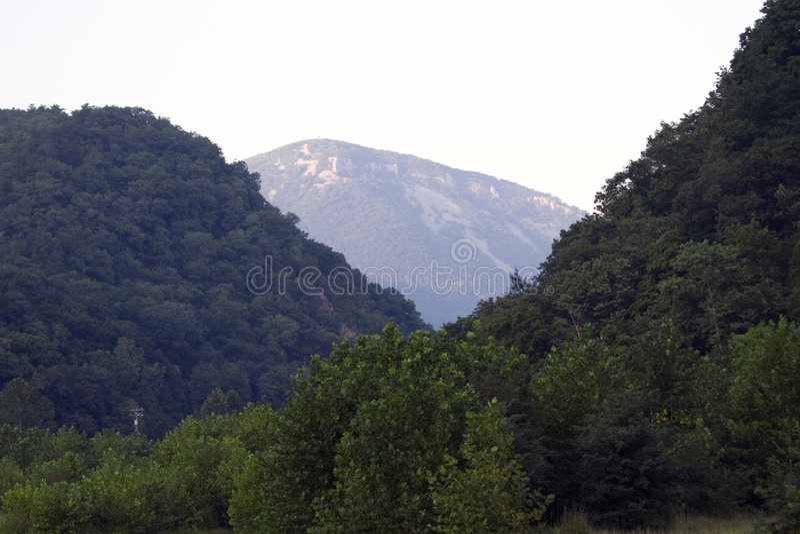 Montaña azul fotos de archivo libres de regalías