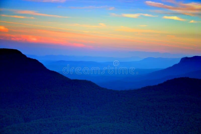 Montaña azul, NSW, Australia fotografía de archivo