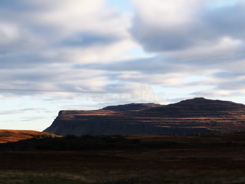 Montaña Burg en Escocia fotos de archivo
