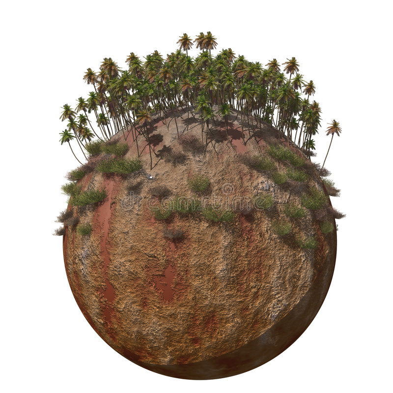 Montaña caliente de tierra del globo libre illustration