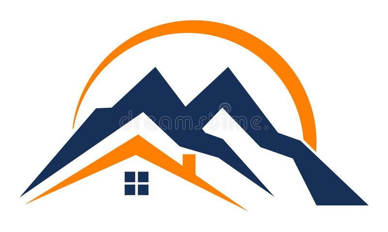 Montaña casera ilustración del vector