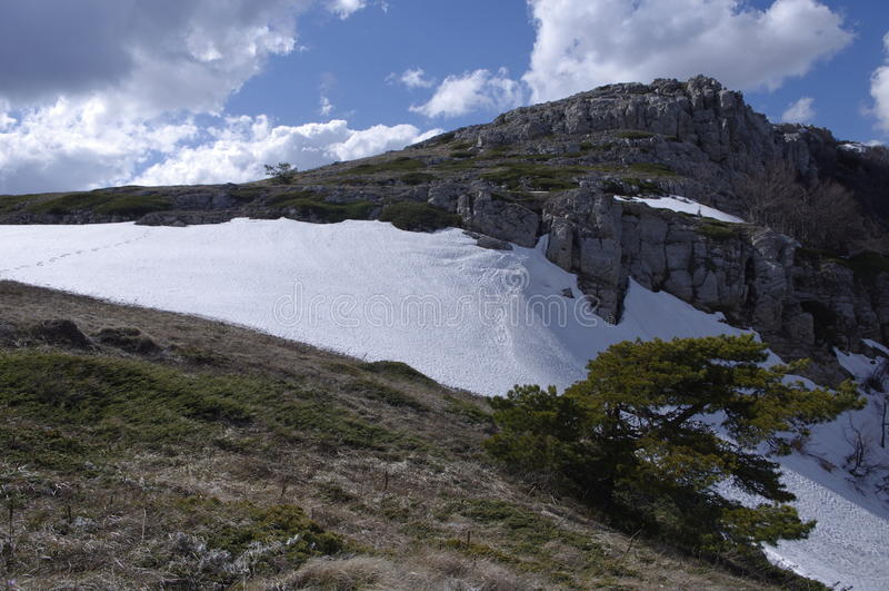 Montaña Chatir-Dag imagen de archivo libre de regalías