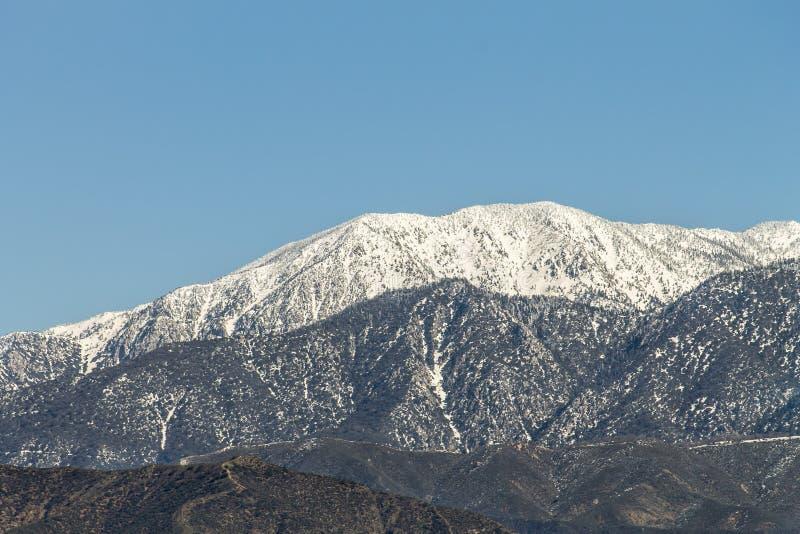 Montaña coronada de nieve de San Gorgonio imagen de archivo libre de regalías