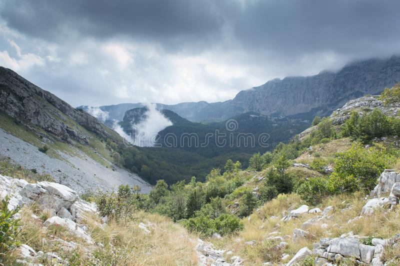 Montaña Cvrsnica en Bosnia y Herzegovina imagenes de archivo