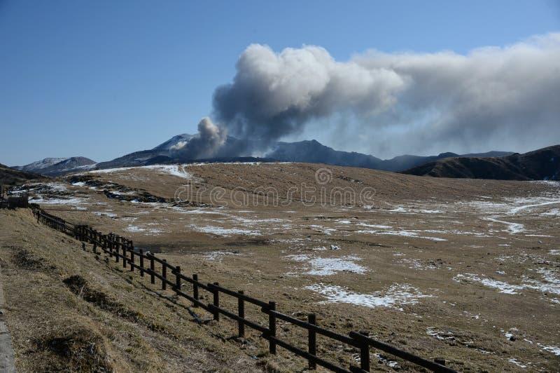 Montaña de Aso El volcán fotos de archivo