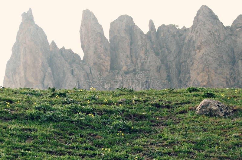 Montaña de Besh Barmag, Azerbaijan foto de archivo
