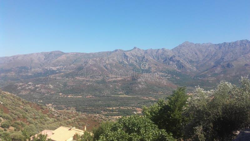 Montaña de Córcega fotografía de archivo