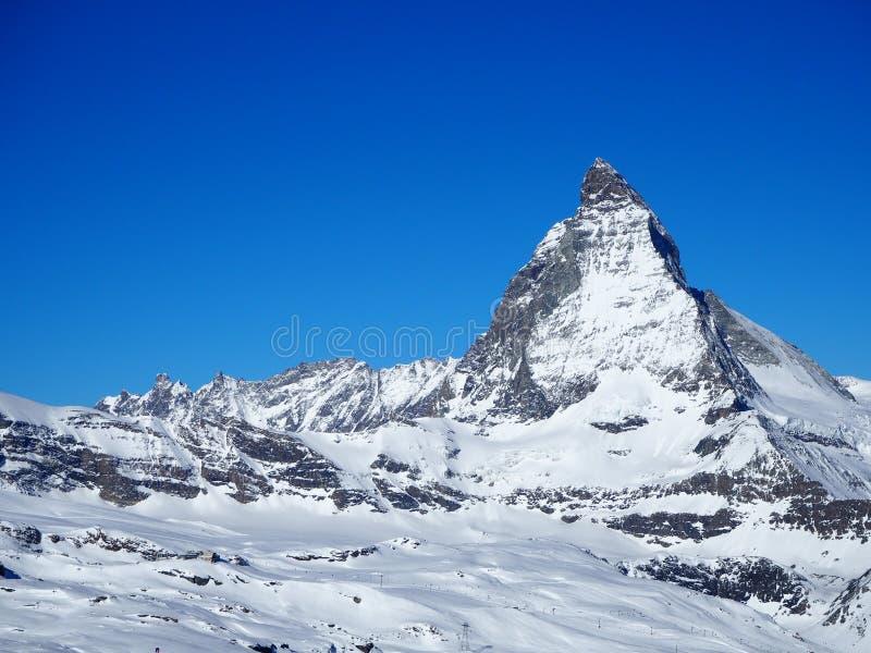 Montaña de Cervino en Suiza, abril de 2015 imagen de archivo libre de regalías