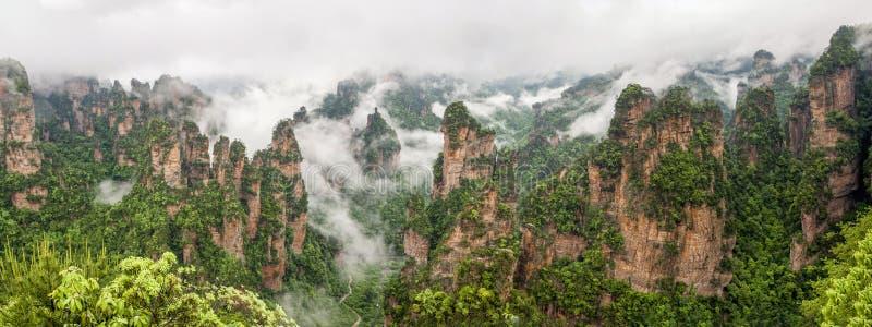 Montaña de China en Zhang Jie Jia imagen de archivo