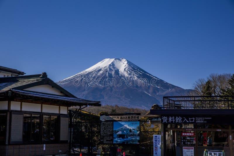 Montaña de Fuji, Japón, filmado a mediados de enero foto de archivo