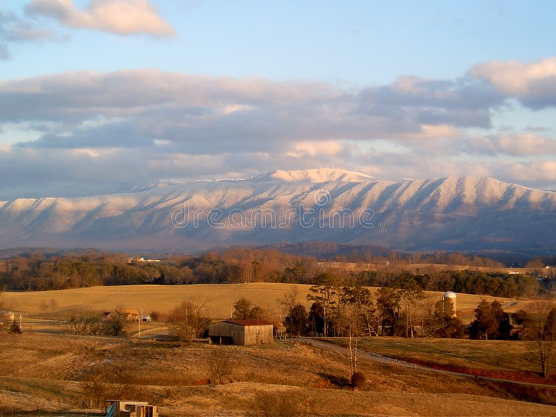Montaña de Greeneville TN imagen de archivo
