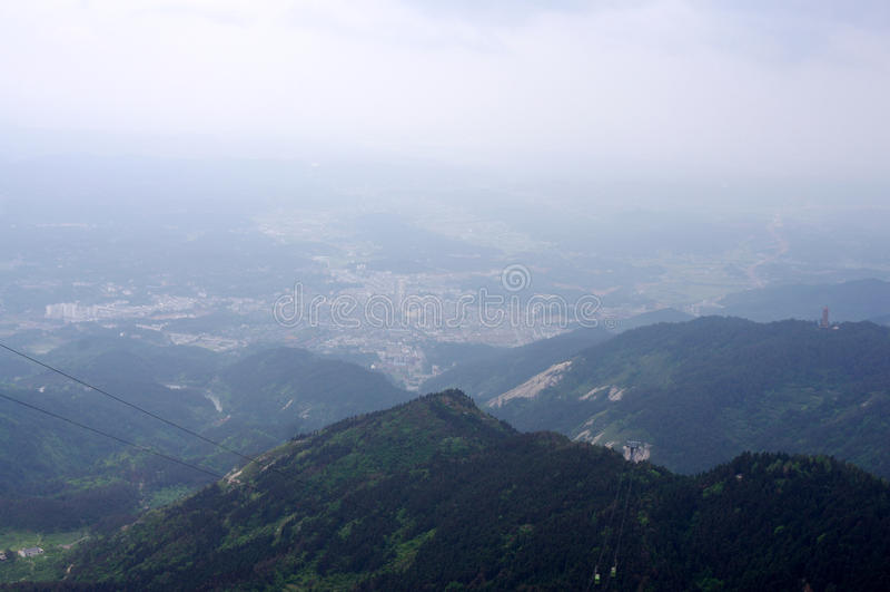 Montaña de Hengshan en Hunan China imagen de archivo