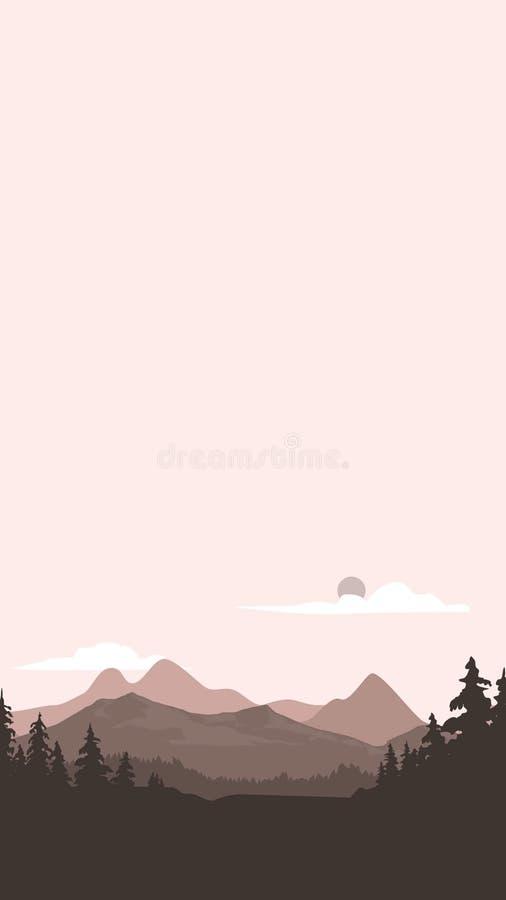 Montaña de la animación foto de archivo libre de regalías