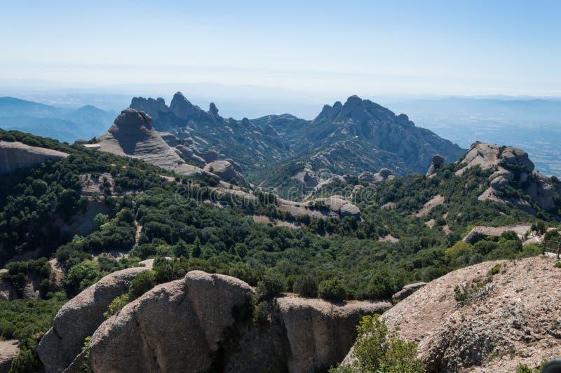 Montaña de la cadena de Montserrat foto de archivo