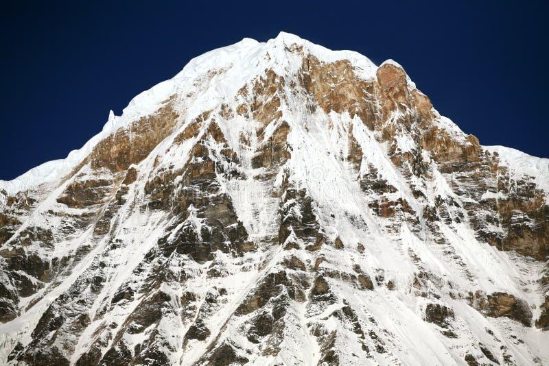 Download Montaña de la nieve imagen de archivo. Imagen de annapurna - 7151951