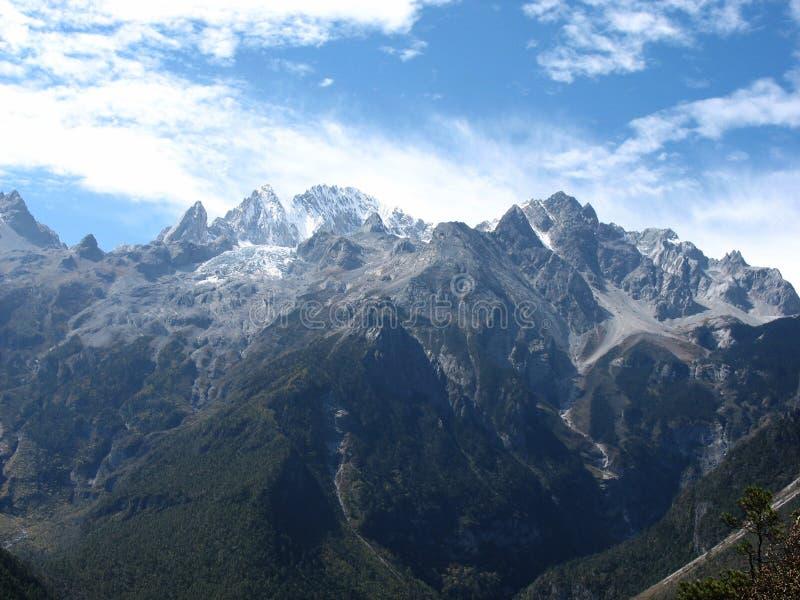 Montaña de la nieve en China foto de archivo libre de regalías
