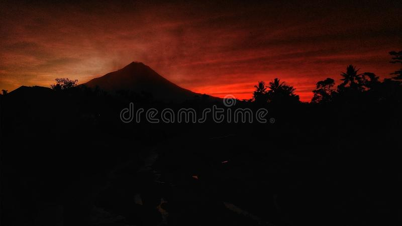 Montaña de Merapi fotos de archivo