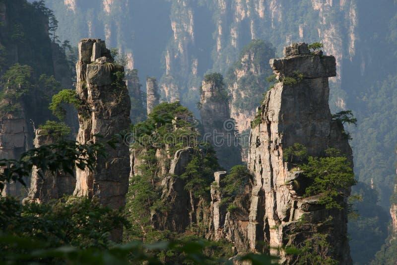 Montaña de piedra en el porvince de hunan de China fotografía de archivo libre de regalías