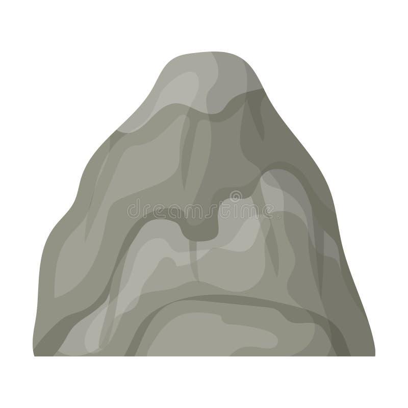 Montaña de piedra gris Una montaña en la cual minó los minerales Diversas montañas escogen el icono en símbolo del vector del est libre illustration