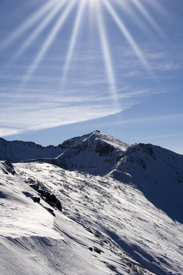 Montaña de Rila. imagen de archivo