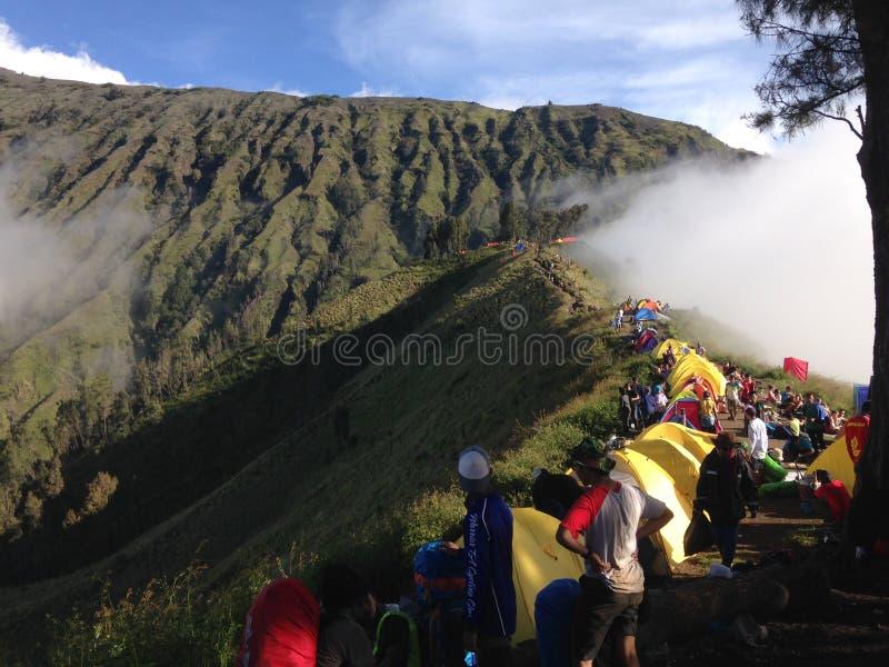 Montaña de Rinjani foto de archivo