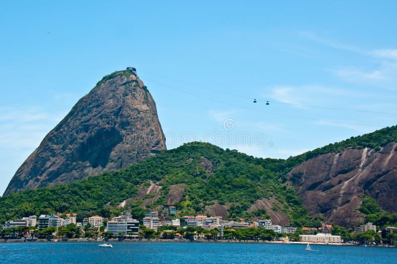 Montaña de Sugarloaf, Rio de Janeiro, el Brasil foto de archivo libre de regalías