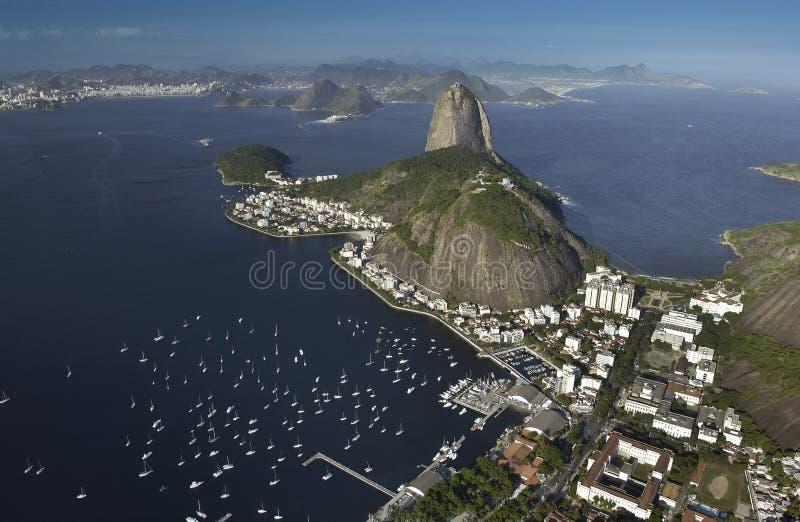 Montaña de Sugarloaf - Rio de Janeiro - el Brasil imagen de archivo