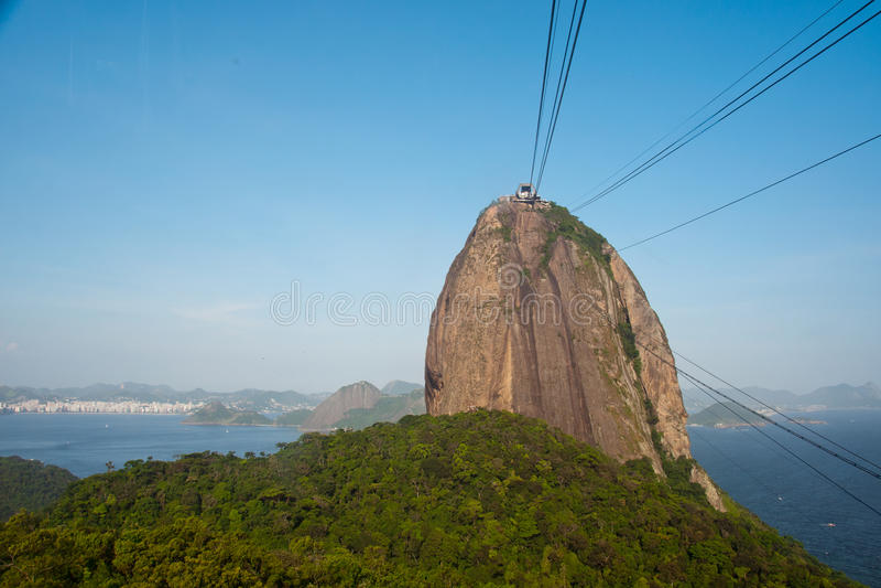 Montaña de Sugarloaf, Rio de Janeiro, el Brasil imágenes de archivo libres de regalías