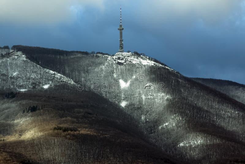 Montaña de Vitosha en invierno, cerca de Sofía, Bulgaria fotografía de archivo libre de regalías