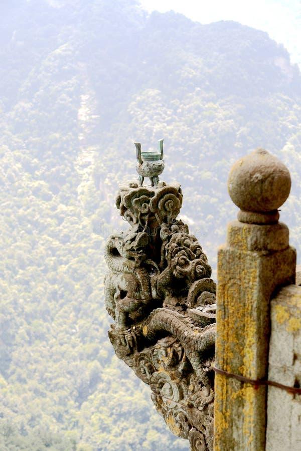 Montaña de Wudang, una Tierra Santa famosa del Taoist en China fotografía de archivo libre de regalías