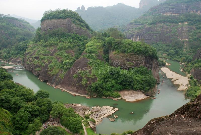 Montaña de Wuyi fotografía de archivo