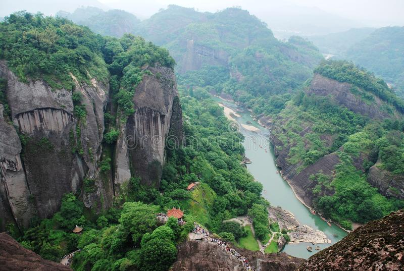 Montaña de Wuyi imagen de archivo