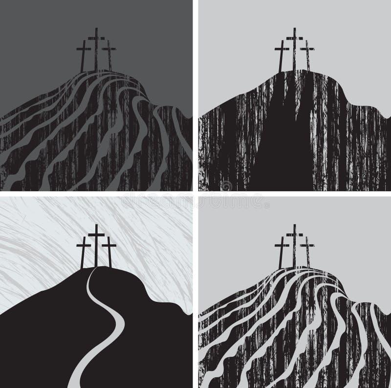 Montaña del Calvary stock de ilustración